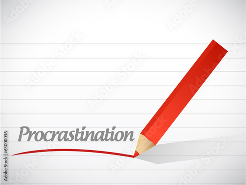 procrastination message illustration design