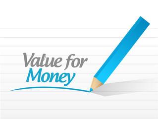value for money message illustration design