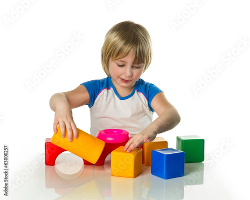 Boy with bricks