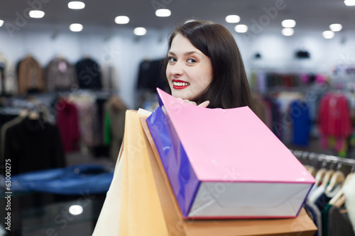 girl at clothing shop