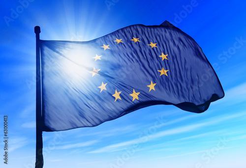 Leinwanddruck Bild Flag of European Union