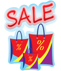 Three bags sale sign