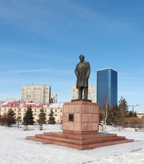 Памятник Астафьеву. Город Краснояск