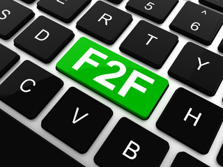 F2F - Face To Face. Internet Concept. Button on Modern Computer