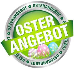 """Button Banner """"Osterangebot"""" Ostereier grün/silber/pastell"""