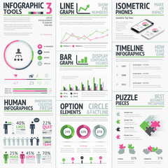 Infographic vector elements template easy to edit