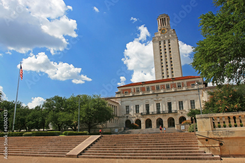 In de dag Texas Academic building dome of University of Texas