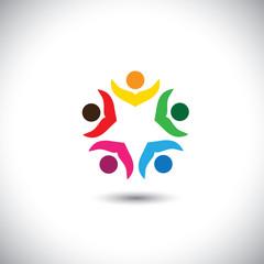 company executives board meeting & brainstorming - concept vecto