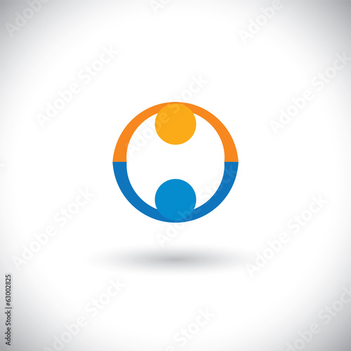 concept vector of people icons greeting, partnership, deal.