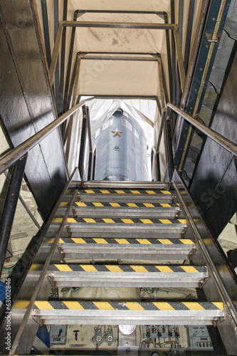 submarine exit ladder to exterior tower