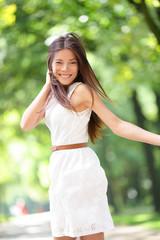 Asian woman happy