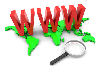 World Wide Web and Magnifying Glass