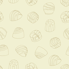 chocolate praline seamless background