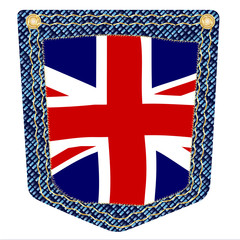 Union Jack Denim Pocket
