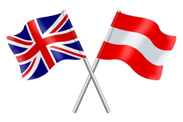 Flags: United Kingdom and Austria