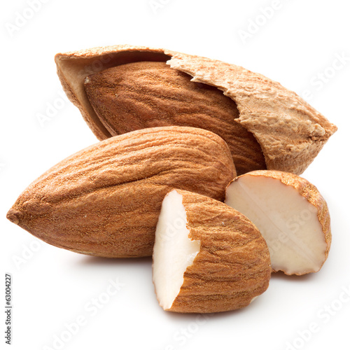 tasty almonds nuts
