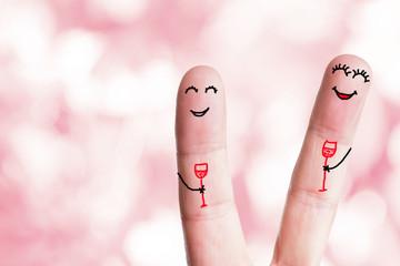 glückliche Finger