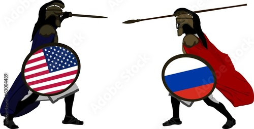 american and russian warriors