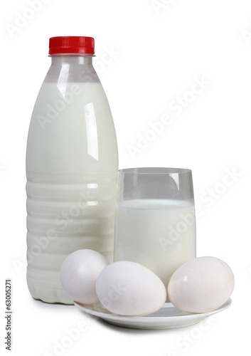 Egg and glass milk