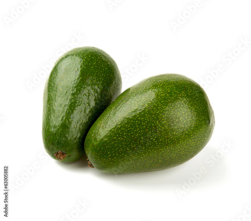 fresh avocado fruit isolated on white