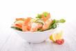 bowl of shrimp salad