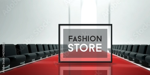 Red carpet runway Fashion Store