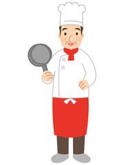 働く男性 料理人 コック