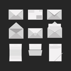 Icons for letter