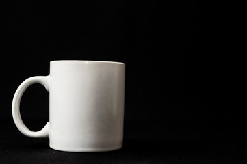 coffee cup isolated on black...