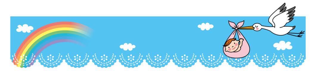 コウノトリ 赤ちゃん バナー
