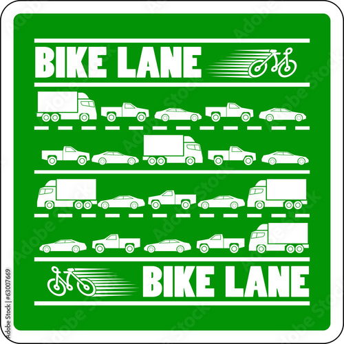 Bike Lane Traffic Jam vector illustration