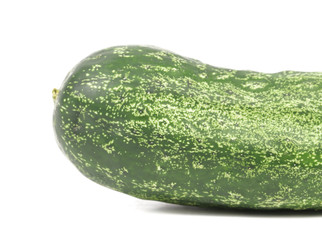 background cucumber  on white