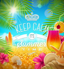Summer holidays vector design
