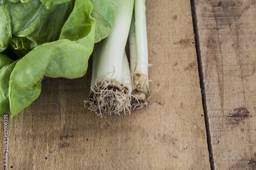 lettuce and leek