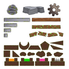 Set of game elements.