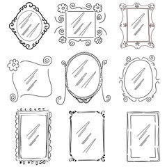 doodle picture frames
