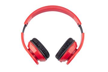Isolate Red Earphones with black pading - Imagen de stock