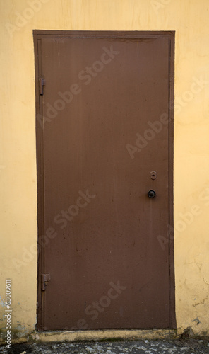 Сlosed  iron door