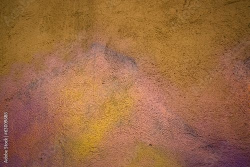 Color concrete wall