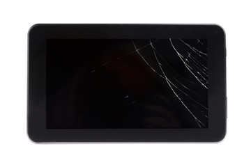 Broken Crash Glass Tablet PC
