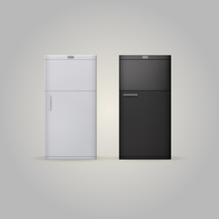 Illustration of two fridges