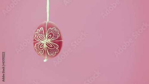 Eastern handmade egg hanging on rope