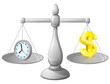 Clock money balance