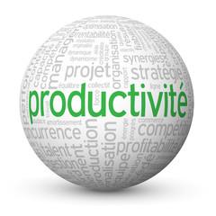 Globe - Nuage de Tags PRODUCTIVITE (compétitivité efficacité)