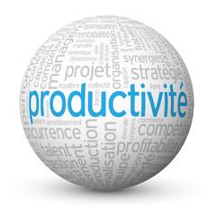 Globe - Nuage de Tags PRODUCTIVITE (efficacité compétitivité)