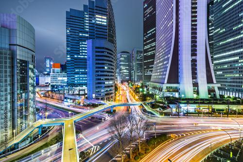 Fototapeta Tokyo Japan at West Shinjuku Skyscraper District