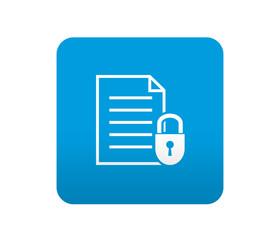 Etiqueta tipo app azul simbolo documento seguro