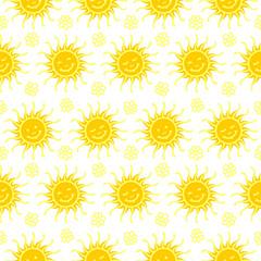 Seamless sunny pattern