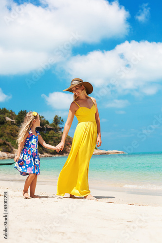 little girl and her mother
