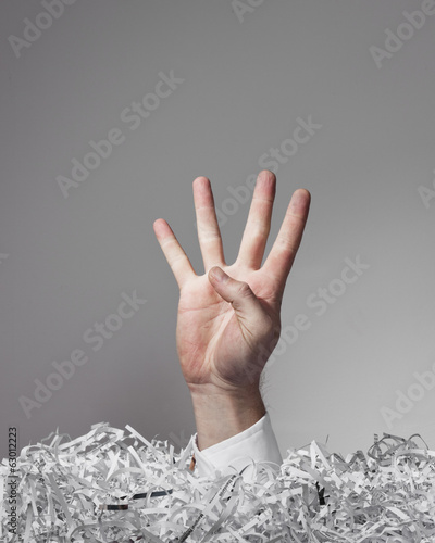 Shredded Paper Hand, Four